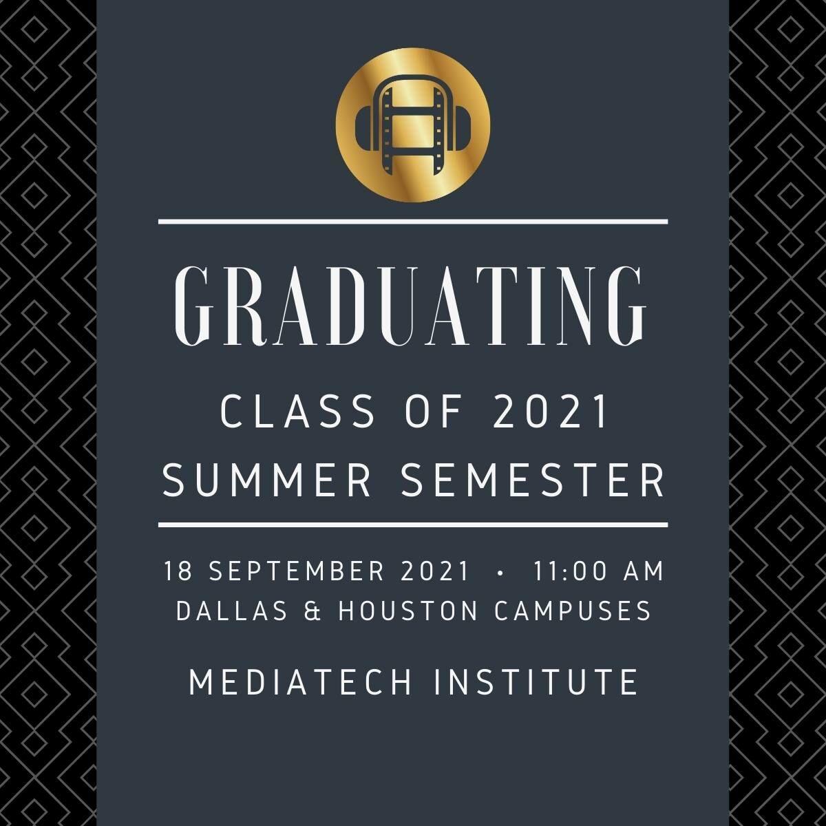 Graduation Summer 2021
